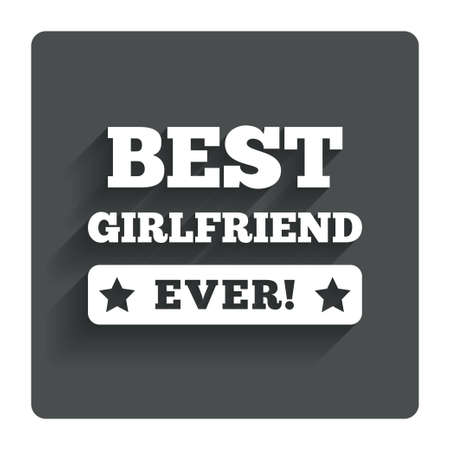 Best girlfriend ever sign icon. Vector