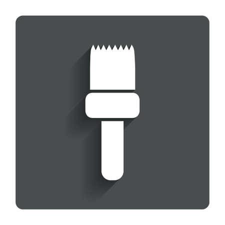 Paint brush sign icon. Artist symbol.  Vector