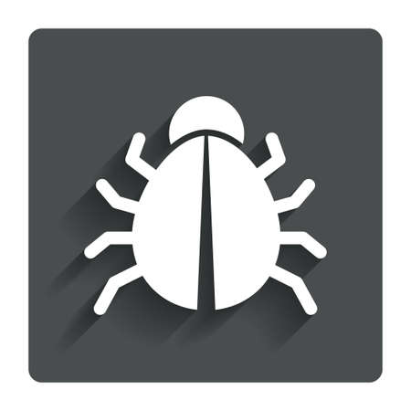 acarus: Bug sign icon. Virus symbol.