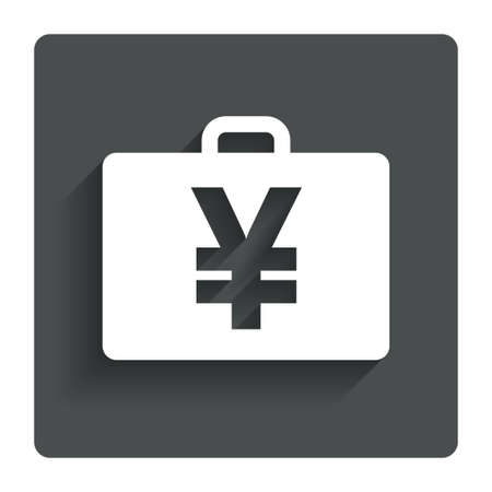jpy: Case with Yen JPY sign icon.