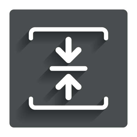 compressed: Archive file sign icon. Compressed zipped file symbol.