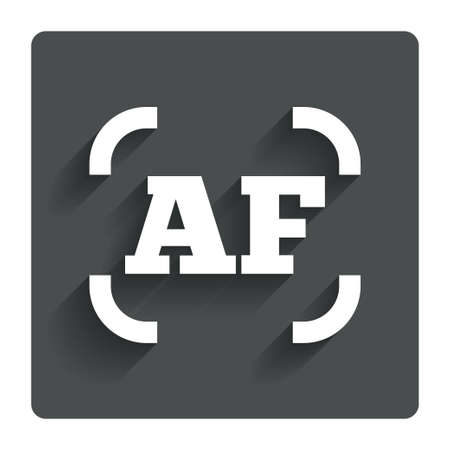 autofocus: Autofocus photo camera sign icon.