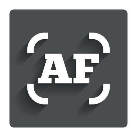 auto focus: Autofocus photo camera sign icon.