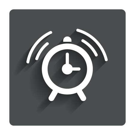 wake up call: Alarm clock sign icon.