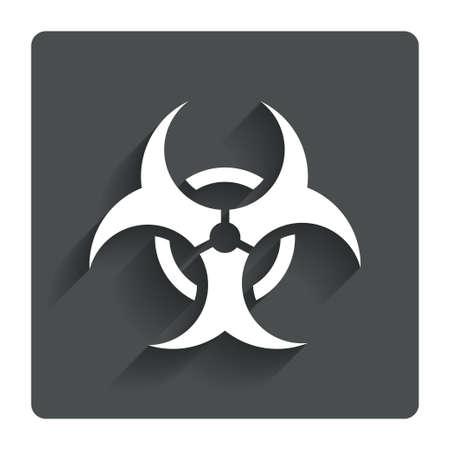 Biohazard sign icon. Danger symbol. Vector
