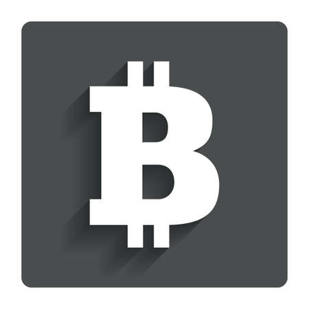 p2p: Bitcoin sign icon.