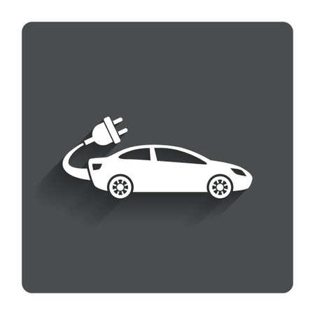 auto sign: El�ctrico icono muestra del coche.