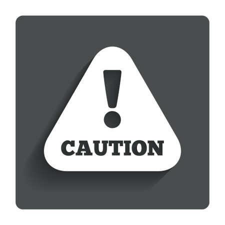 caution sign: Attenzione cautela segno icona. Vettoriali