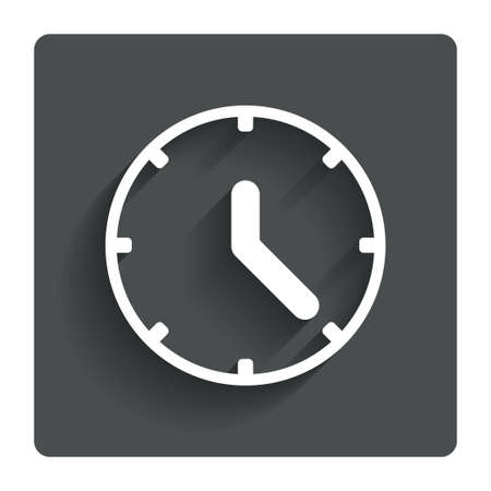 Clock sign icon.