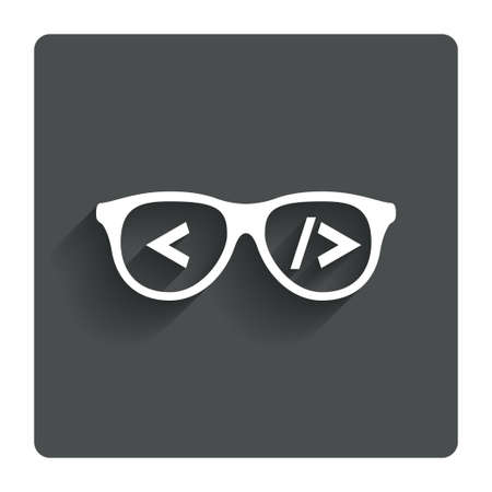 coder: Coder sign icon.  Illustration