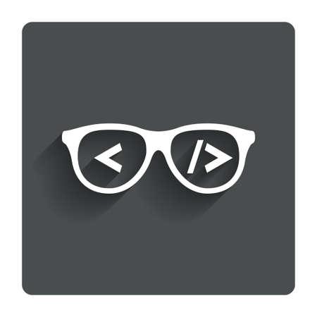 Coder sign icon.  Illustration