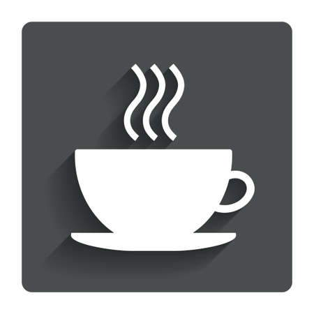 Coffee cup sign icon.  Vector
