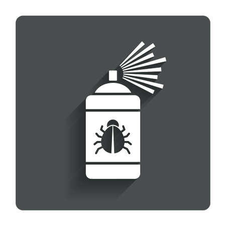 disinfection: Bug disinfection sign icon.  Illustration