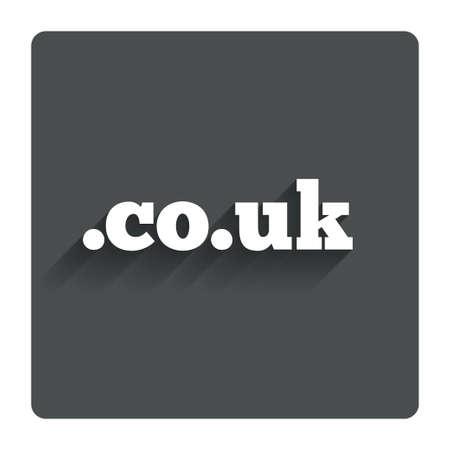 co: Domain CO.UK sign icon.  Illustration