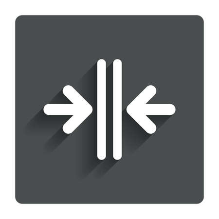 automatic doors: Close the door sign icon.
