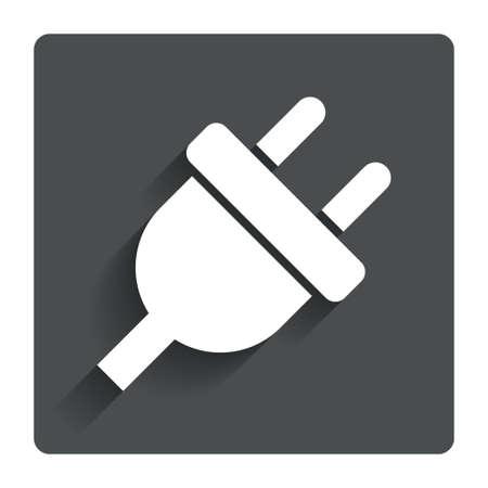 plug electric: El�ctrico icono de signo enchufe. Vectores