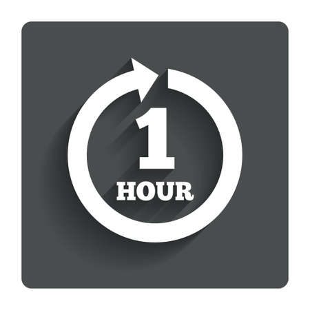 every: Every hour sign icon.