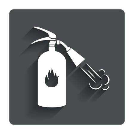 fire extinguisher sign: Extintor signo icono. Vectores