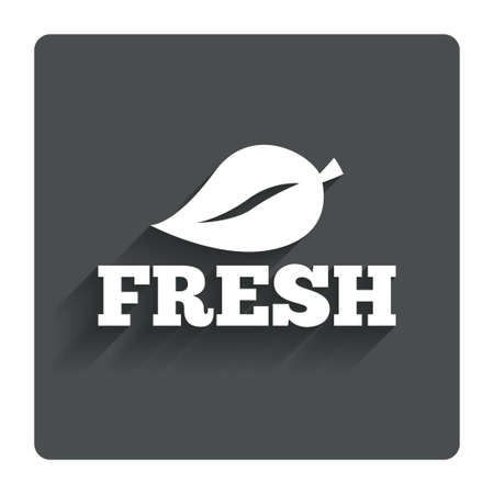 Fresh product sign icon.  Vector