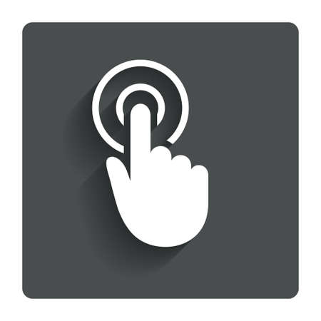 Hand cursor sign icon.