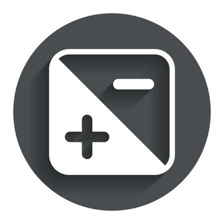 hosszú expozíció: Az expozíció fényképezőgép jele ikonra. Fénymennyiséget beállításokat. Circle lapos gombot az árnyék. Modern UI honlap navigációs. Vektor Illusztráció