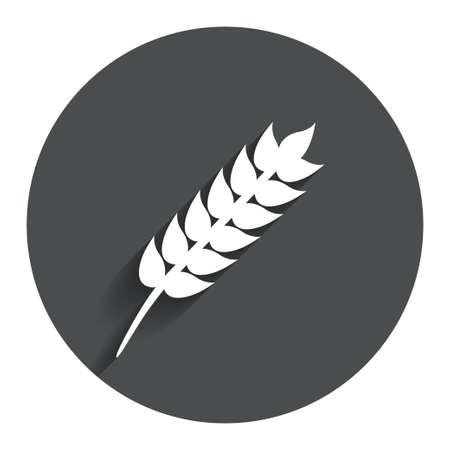 Gluten free sign icon. No gluten symbol. Circle flat button with shadow. Modern UI website navigation. Vector