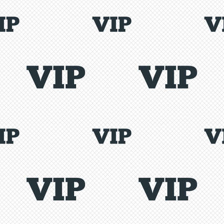 very important person: Vip sign icon. Membership symbol. Very important person. Seamless grid lines texture. Cells repeating pattern. White texture background. Illustration