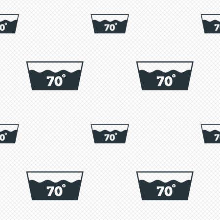 washable: Icono Wash. Lavar a m�quina a 70 grados s�mbolo. L�neas de la cuadr�cula Perfecta textura. Las c�lulas que repite el modelo. Blanco textura de fondo.