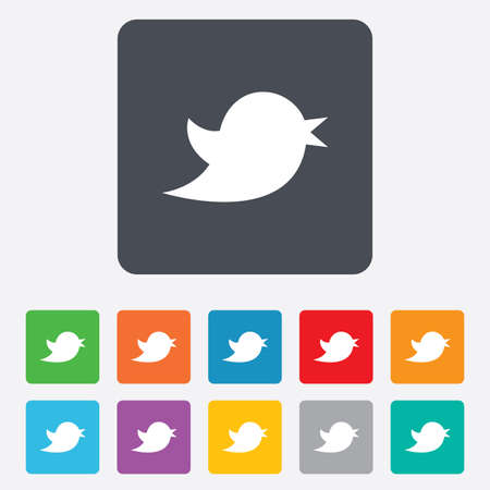 bird wing: Social media icon.