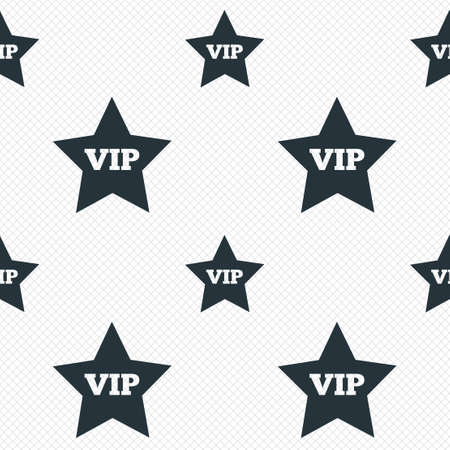 very important person: Vip sign icon. Membership symbol. Very important person. Seamless grid lines texture. Cells repeating pattern. White texture background.
