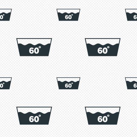 washable: Icono Wash. Lavar a m�quina a 60 grados s�mbolo. L�neas de la cuadr�cula Perfecta textura. Las c�lulas que repite el modelo. Blanco textura de fondo.