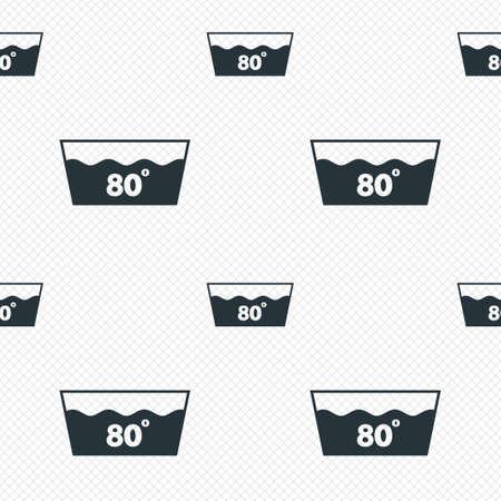 washable: Icono Wash. Lavar a m�quina a 80 grados s�mbolo. L�neas de la cuadr�cula Perfecta textura. Las c�lulas que repite el modelo. Textura blanca de fondo. Vectores