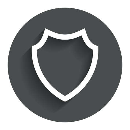 security token: Shield sign icon. Protection symbol. Circle flat button with shadow. Modern UI website navigation.
