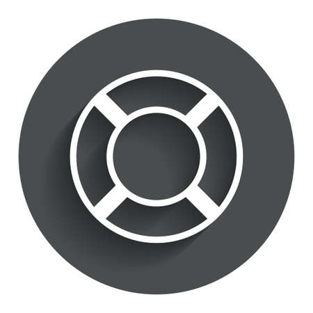 salvation: Lifebuoy sign icon. Life salvation symbol. Circle flat button with shadow. Modern UI website navigation. Stock Photo