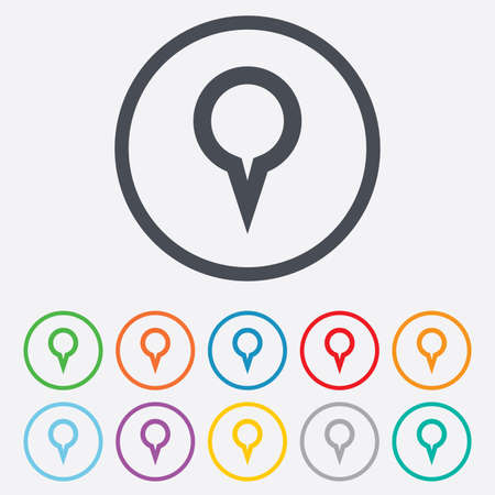 Map pointer house sign icon home location marker symbol round map pointer sign icon location marker symbol round circle buttons with frame vector sciox Gallery