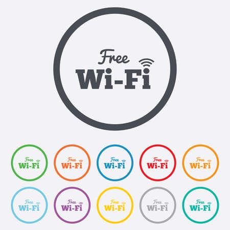 Wifi Zeichen. Wifi-Symbol. Drahtlose Netzwerksymbol. Wifi Zone. Rund ...