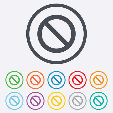 blacklist: Blacklist sign icon. User not allowed symbol. Round circle buttons with frame. Vector Illustration