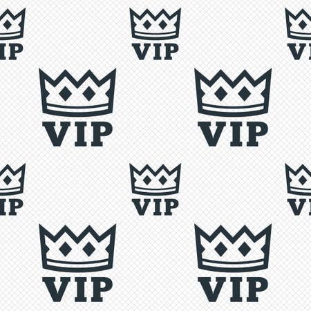 very important person sign: Vip sign icon. Membership symbol. Very important person. Seamless grid lines texture. Cells repeating pattern. White texture background. Stock Photo