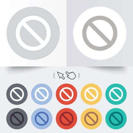 blacklist: Blacklist sign icon. User not allowed symbol. Round 12 circle buttons. Shadow. Hand cursor pointer.