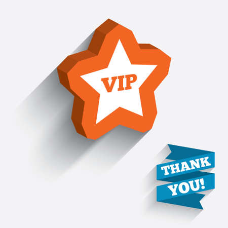 very important person sign: Vip sign icon. Membership symbol. Very important person. White icon on orange 3D piece of wall. Carved in stone with long flat shadow.