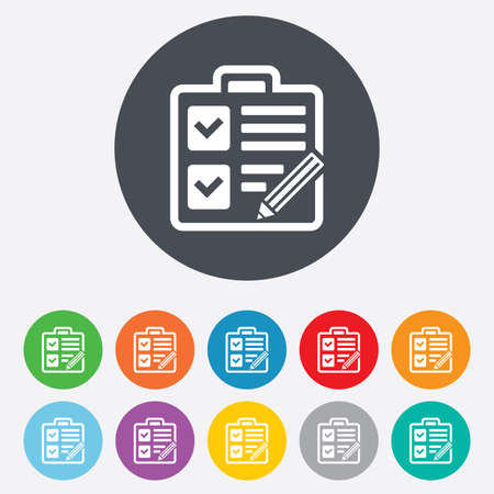 checklist: Checklist sign icon. Control list symbol.
