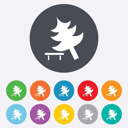 break down: Tree sign icon. Break down tree symbol.