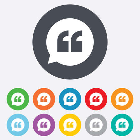 Quote sign icon. Quotation mark symbol. Vector