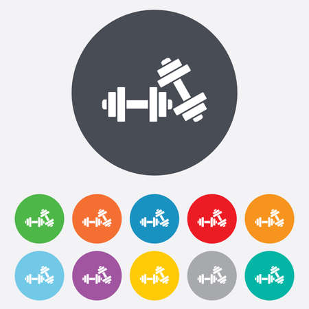 Dumbbells sign icon. Fitness sport symbol. Vector
