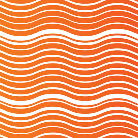 Waves lines pattern background. Abstract wallpaper with random wide narrow stripes or curves. Orange background. Vector