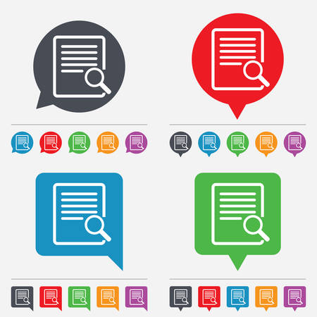 Search in file sign icon Vector