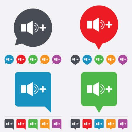louder: Speaker volume louder sign icon