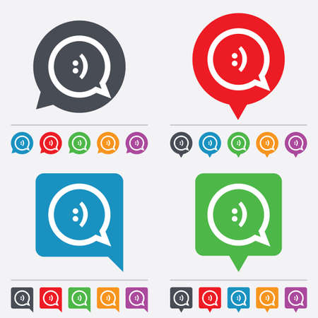 Chat sign icon Vector