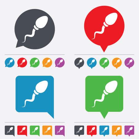 spermatozoa: Sperm sign icon