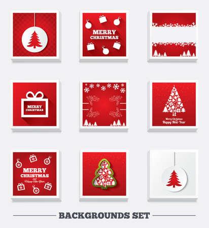 christmas backgrounds: Christmas backgrounds. Tree and gift box.